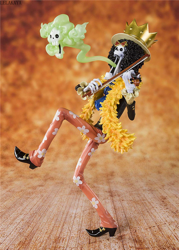 Image 5 - NEW hot 23cm Japan Anime ONE PIECE 20th Anniversary The Straw Hat Pirates BROOK Burukku PVC Action Figure Model Brinquedos ToysAction & Toy Figures   -