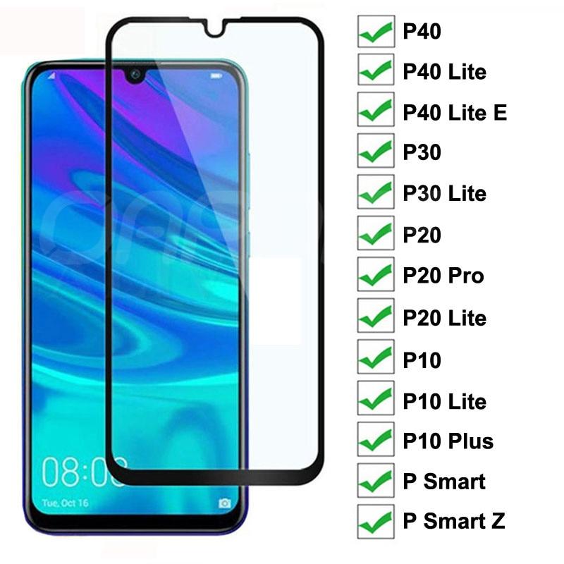9d vidro temperado para huawei p40 p30 lite e p inteligente z 2019 protetor de tela protetora huawei p20 pro p10 lite mais filme de vidro