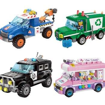 Cidade civilizada série modelo blocos de construção crianças diversão brinquedos educativos compatíveis legoings para crianças presente natal