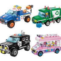 Civilized City Series Model Building Blocks Kids Fun Educational Toys Compatible Legoings for Children Christmas Gift