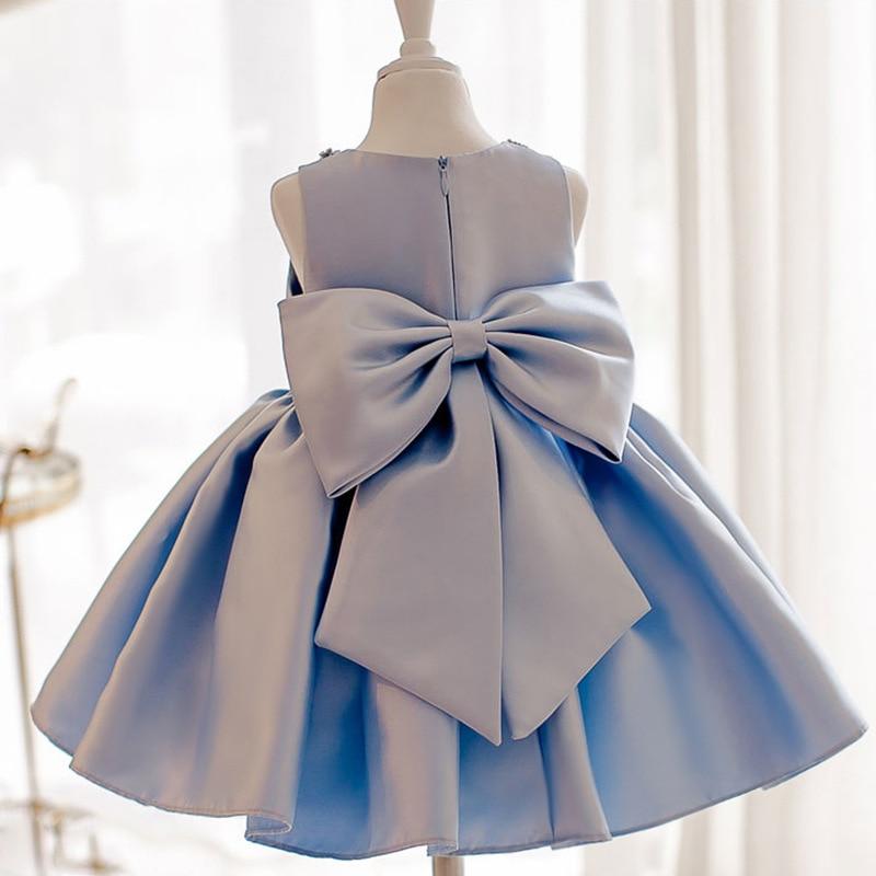 Dresses Of Bride Fellow Kids Women's Girls' Princess Skirt Girls Puffy Yarn Wedding Dress Birthday Host Blue Piano Costume Summe