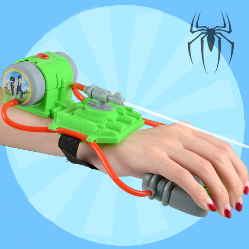 5 M Shooting Range Mini Wrist Water Guns Toys Summer Beach Spiderman Style Water Fun Wrist Blasters Toys For Pools Party Seaside