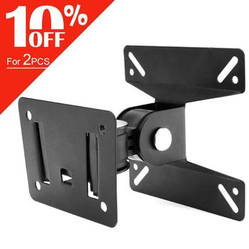 15KG Adjustable TV Wall Mount TV Holder Rotate TV Wall Bracket Support 180° Rotation for 14~24 Inch LCD LED Flat Panel Monitor oversea tv wall mount bracket metal shelf bracket lcd tv stand mount bracket flat screen wall brackets 26 to 55 inches tv holder