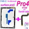 מקורי עבור Surface של מיקרוסופט Pro 4 1724 פרו 5 Pro5 1796 LCD תצוגת מסך Digitizer לוח מגע זכוכית עצרת החלפה
