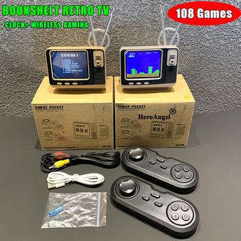 GV300 Mini Retro regał konsola do gier TV przenośny odtwarzacz gier wbudowany 108 klasyczne gry Mini kieszeń gry dla NES AV Out tanie i dobre opinie HeroAngel CN (pochodzenie) 3 0 Brown Gray Retail and Wholesale and Dropshipping Shenzhen China Registered tracking number