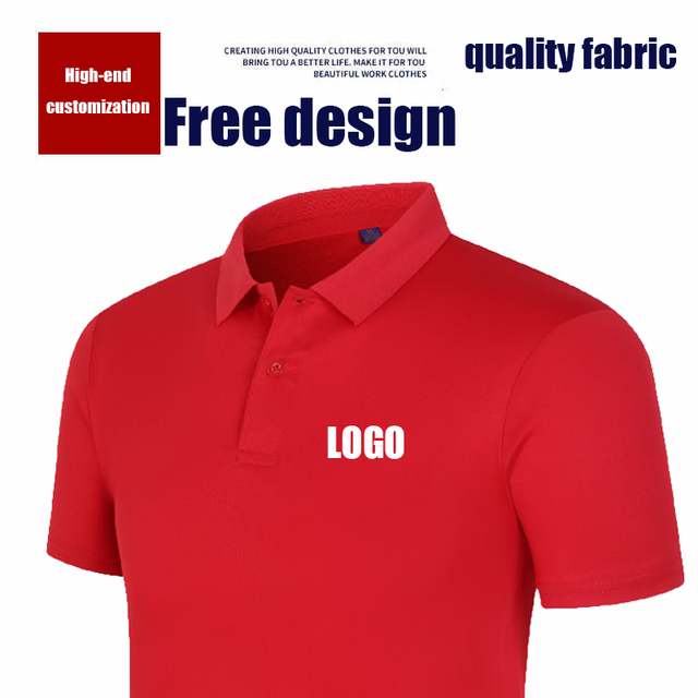 High-end customization POLO shirt custom work POLO short sleeve team high quality quick-drying shirt Adult and children sizes