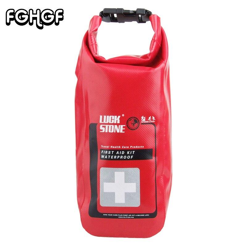 Survival Red Waterproof 2L First Aid Bag Emergency Kits Empty Travel Dry Bag Rafting Camping Kayaking Portable Medical Bag