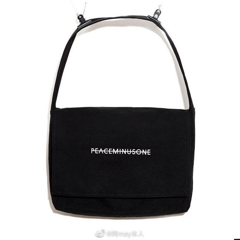 Kpop G-Dragon Embroidery Peaceminusone Crossbody Bag Shopping Bag Kwon JI Young