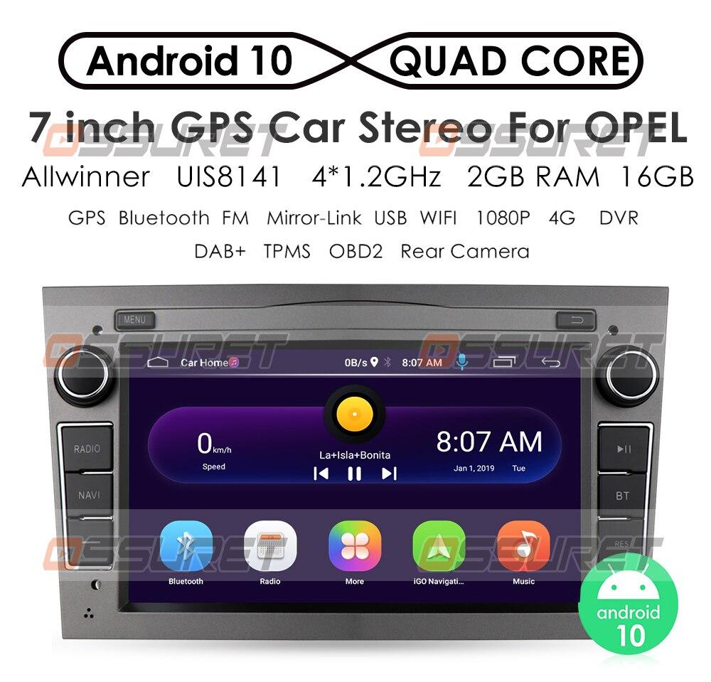 2g 64g android 10 2 din gps do carro para opel astra h g j vectra antara zafira corsa vivaro meriva veda nenhum leitor de dvd