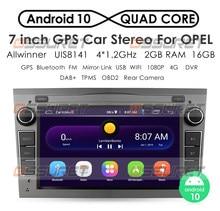 2G 64G Android 10 2 DIN GPS para coche para opel Astra H G J Vectra Antara Zafira Corsa Vivaro Meriva Veda sin reproductor de DVD