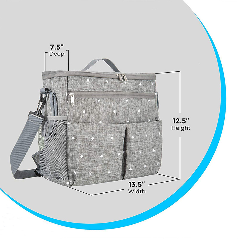 MOTOHOOD Baby Diaper Bags For Mom Backpack Fashion Star Maternity Bag Stroller Bag Multifunctional Nappy Bag For Mummy   (8)