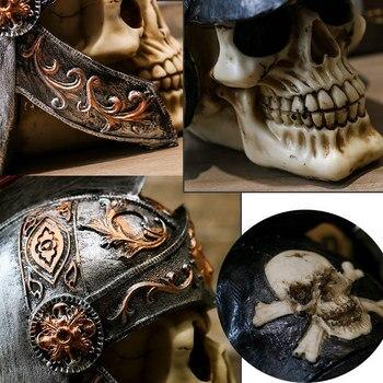 Creativo Vintage Resina Calavera Estatua Esqueleto Accesorios Escultura Hogar Oficina Escritorio Decoración Adorno Halloween Decoración Cumpleaños Regalo