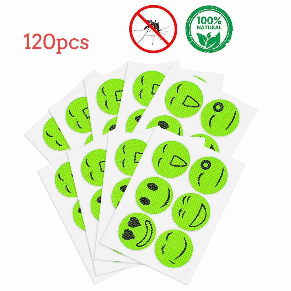 120pcs Anti Toxic Insect Bugs Mosquito Repellent Patch Stickers
