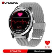 Rundoing n58 ecg ppg relógio inteligente com eletrocardiograph ecg display holter ecg monitor de freqüência cardíaca pressão arterial smartwatch