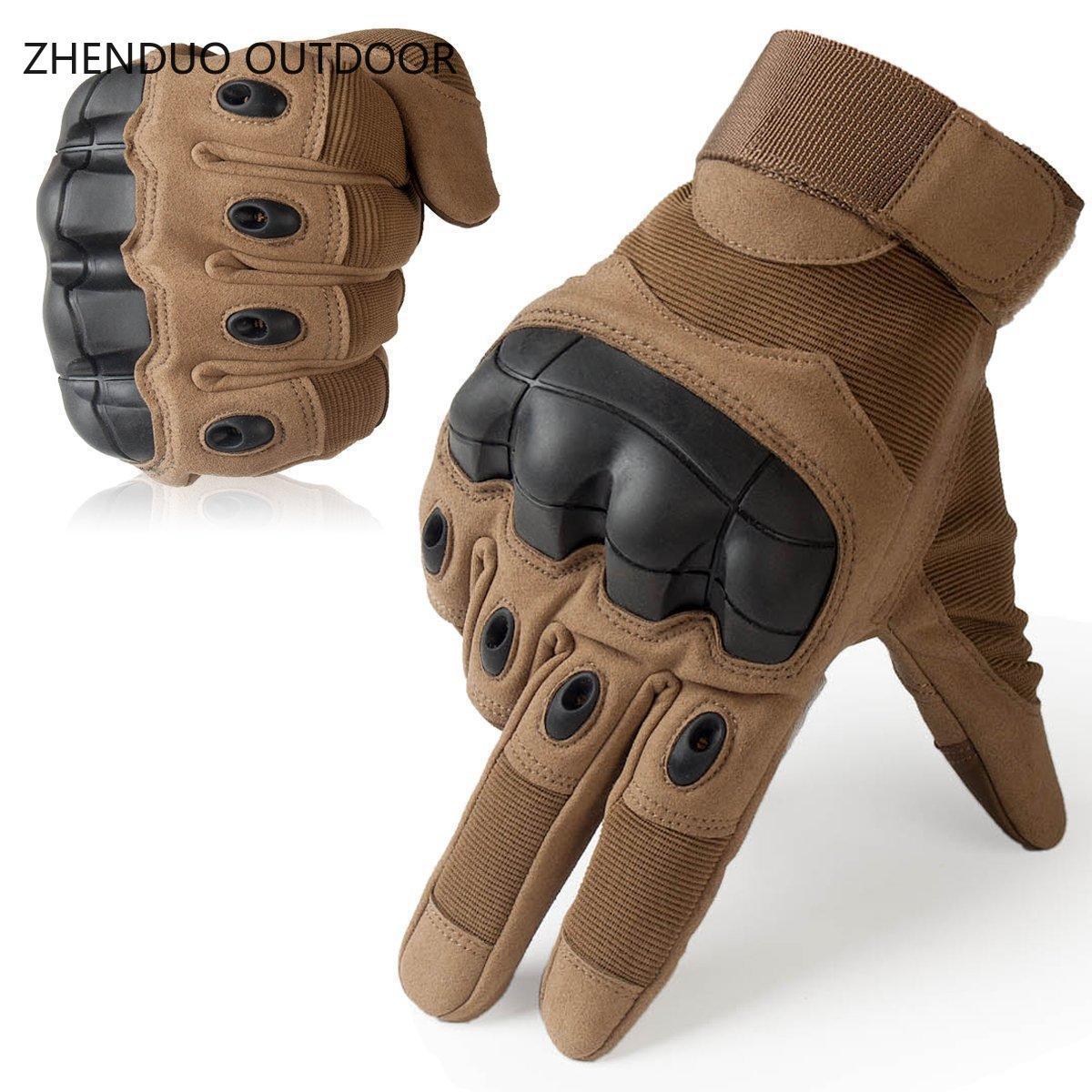 duro dedo cheio luvas tático luva proteção segurança