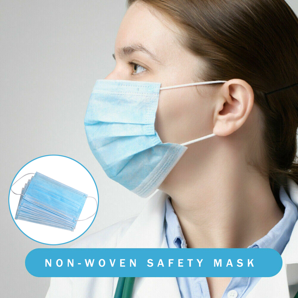 10/20/30/50pcs Non Woven Disposable Face Mask 3 Layer Dental Earloop Activated Carbon Anti-Dust Facial Safety Masks
