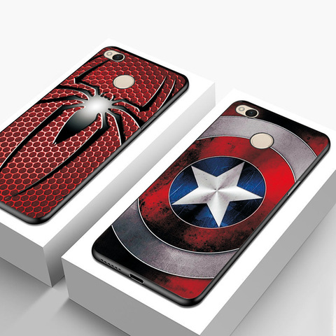Black TPU Fashion Case For XiaoMi Redmi 4X Cute Spiderman Capa Phone Shell For Xiaomi Redmi Note 4X Back Cover Fundas Note 4 4X Lahore