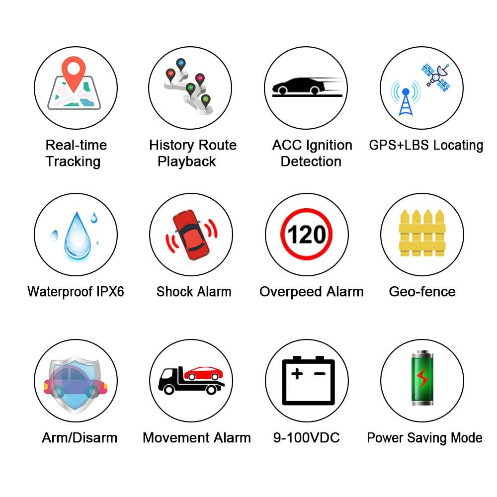 4G Vehicel GPS Tracker LK960 Cut off Enginer remotely (2)
