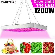 Wakyme 1200w led crescer espectro completo de luz led planta luz fitocampy para plantas de interior sementes flores cultivo lâmpada