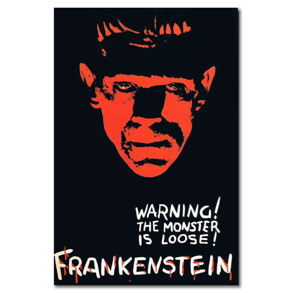 Frankenstein Universal Monsters Horror Movie Film 2 Silk Cloth Poster Art Bedroom Decoration image
