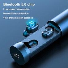 СПЦ водонепроницаемый Bluetooth5.0EDR модные беспроводные наушники 8Д спорта HiFi наушники MIC автоматический игровой музыки гарнитура для iPhone Андроид