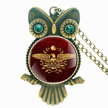 Antique SPQR Symbol Handmade Inlaid Rhinestone Necklace Roman Legions Pendant Charm Men Women Jewelry Gifts special antique handmade necklace suit professional wood resin production special jewelry gifts for men and women