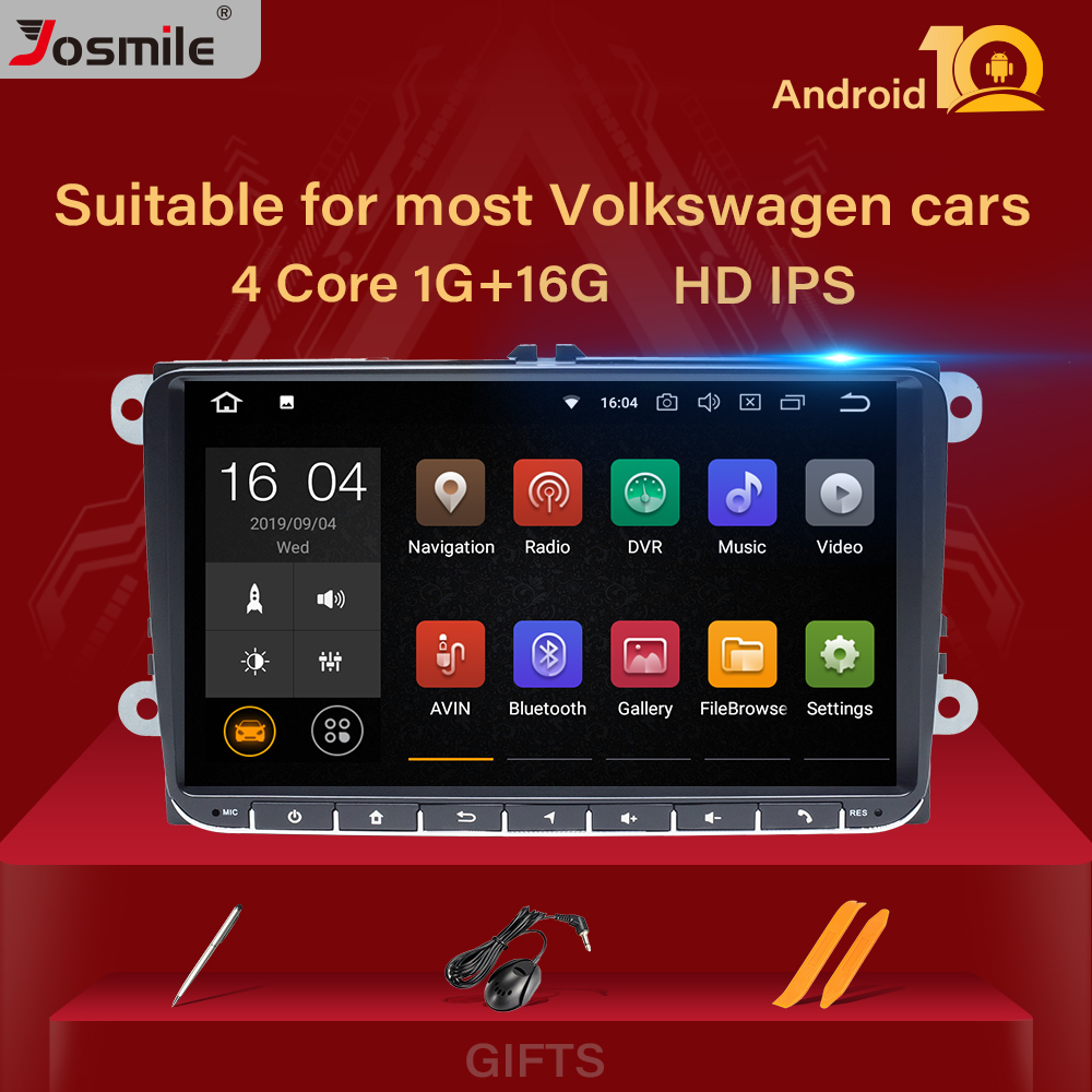 2 Din Android 10 Car Radio GPS Navigation For VW Passat B6 Amarok Volkswagen Skoda Octavia 2 Superbseat Leon Golf 5 6 Multimedia
