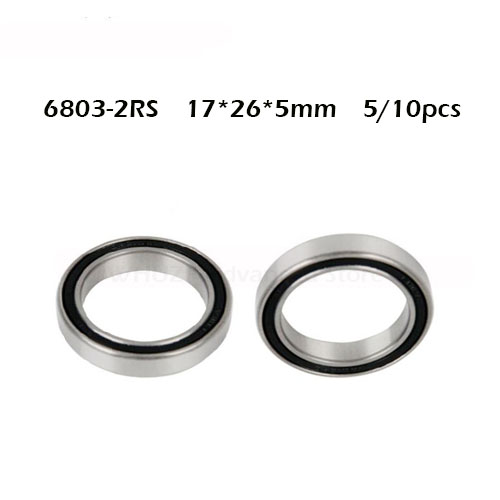 5/10pcs 6803 2RS Bearing 17*26*5 Mm ABEC-1 Metric Thin Section 61803RS 6803 RS Ball Bearings 6803RS