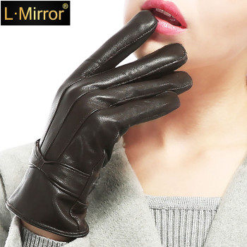 L.Mirror 1Pair 2019 Fashion  Women Skiing Running Gloves Ultra Fleece Winter Accessories winter gloves women