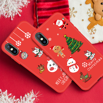 New Year Christmas Silicone Case For iPhone XS Max XR X 6 S 6S 7 8 Plus 11 Pro Max Santa Claus Elk Pattern Phone Soft Back Cover
