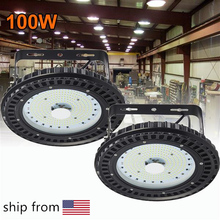 100W 150W 200W 10000LM 110V UFO LED High Bay Lights 6500K Waterproof Commercial Lighting Industrial Warehouse Led High Bay Lamp brightinwd 10pcs ufo high bay 100 265v 100w 150w 200w led flood light smd3030 garage light industrial led lamp warm cold white
