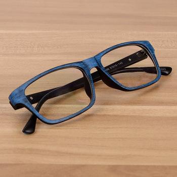 Vazrobe ramki okularów mężczyzna kobiet Unisex drewna ziarna ramki okularów optycznych receptę rocznika dioptrii krótkowzroczność tanie i dobre opinie Z tworzywa sztucznego Stałe glasses frame FRAMES Okulary akcesoria 34mm 51mm 143mm 16mm 0 no degree