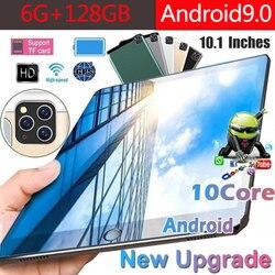 2020 10,1-дюймовый планшетный ПК 3G/4G Android 9,0 Восьмиядерный супер планшеты Ram 6G + 128G WiFi GPS 10 планшет IPS Dual SIM GPS