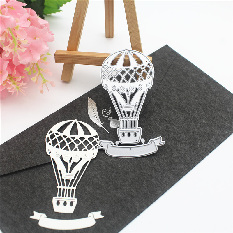 Metal Cutting Dies Scrapbooking For Card Making DIY Embossing Cuts New Craft Die Hot Air Balloon