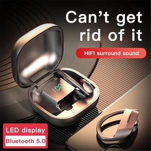Bluetooth наушники TWS Беспроводные Наушники Hi-Fi стерео гарнитуры rс микрофоном водонепроницаемые наушники с крючком спортивные наушники для бег...