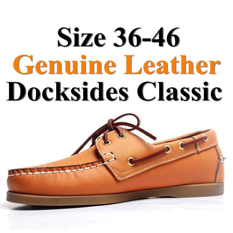 Men Leather Shoes Brand Mens Fashion Shoes Men Casual Leather Shoes Genuine Leather Men Loafers Boat Shoes