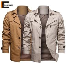 Business-Jacket Windbreaker Tactical-Coat Military Mens Autumn New-Fashion Cotton Zipper