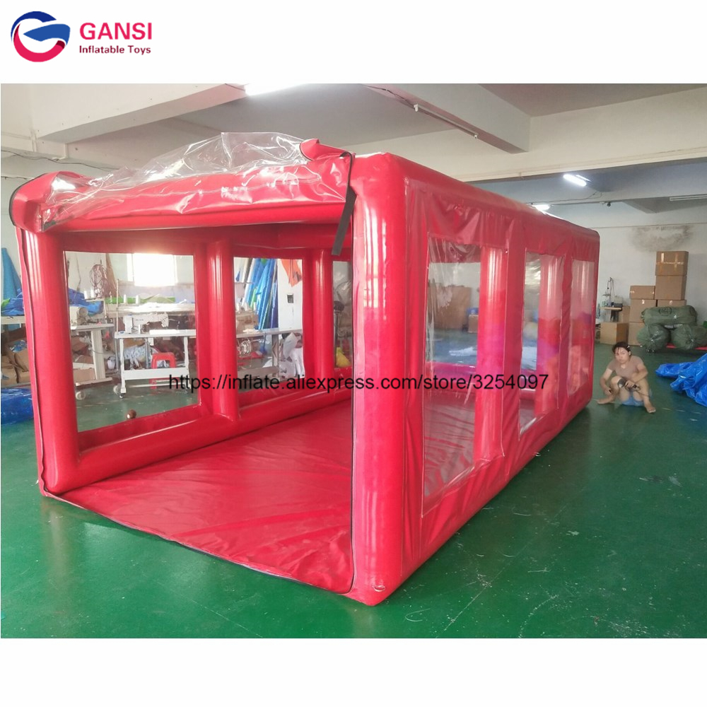 2019 new design inflatable <font><b>car</b></font> wash <font><b>tent</b></font>,red color inflatable <font><b>car</b></font> <font><b>garage</b></font> <font><b>tent</b></font> for cover image