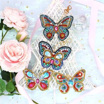 EverShine Diamond Painting Keychain Special Shaped Diamond Embroidery Accessories Stitch Kit Diamond Keychain