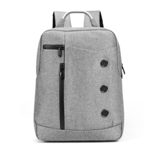 Teenager Schoolbag Men Business Shoulder Bags Button Zip Waterproof Mochila Casual Multifunction Backpack Large Travel Rucksacks