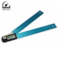 """200/300/500mm 12"""" Digital Angle Ruler Finder Meter Protractor Inclinometer Goniometer Electronic Angle Gauge Stainless Steel"""