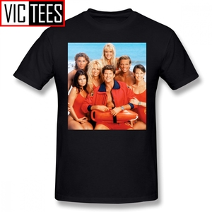 Erkek Baywatch T Shirt Baywatch cankurtaran T-Shirt sevimli erkek Tee gömlek pamuk moda baskı 5x Tshirt