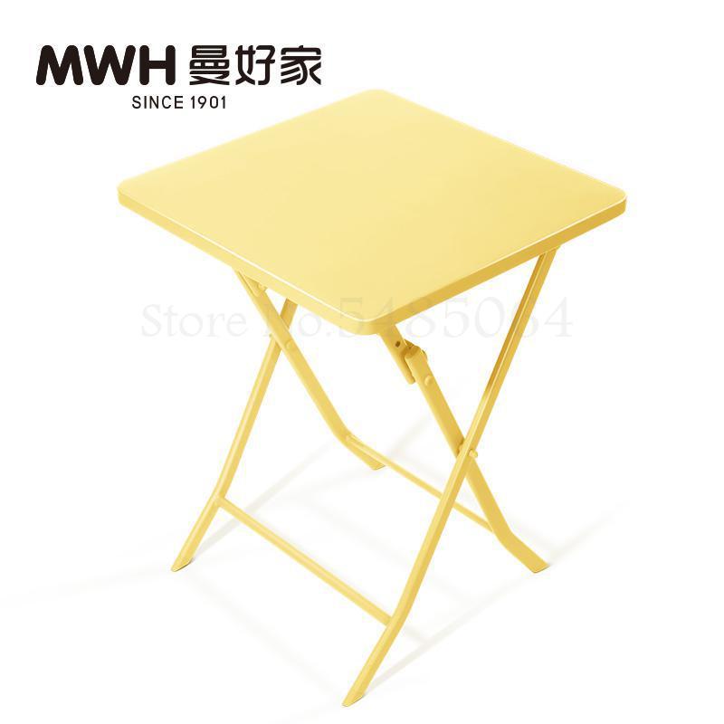 Железный маленький стол, складной небольшой квадратный стол, простой маленький круглый стол, журнальный столик для спальни, маленький обеденный стол для балкона - Цвет: Sparks Fy 1