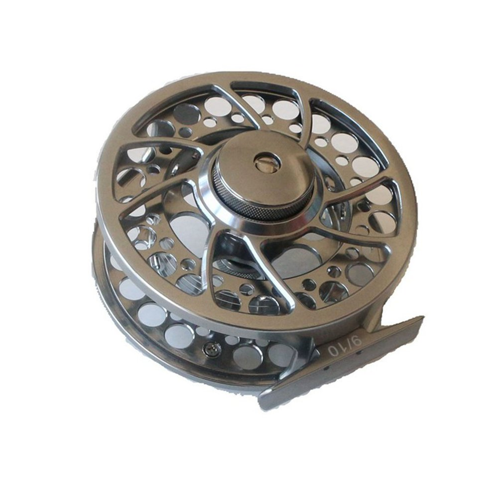 Silver Ultralight3/4 5/6 7/8 9/10 WT Fly Fishing Reel Aluminum Alloy CNC Machine Cut 145g Large Arbor Casting Former Ice Reel