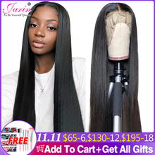 13x4 Lace Frontal Wigs Peruvian Straight Hair Lace Closure Wig 30 32 inch 100% Human Hair Wig Remy Hair Pre Plucked Jarin