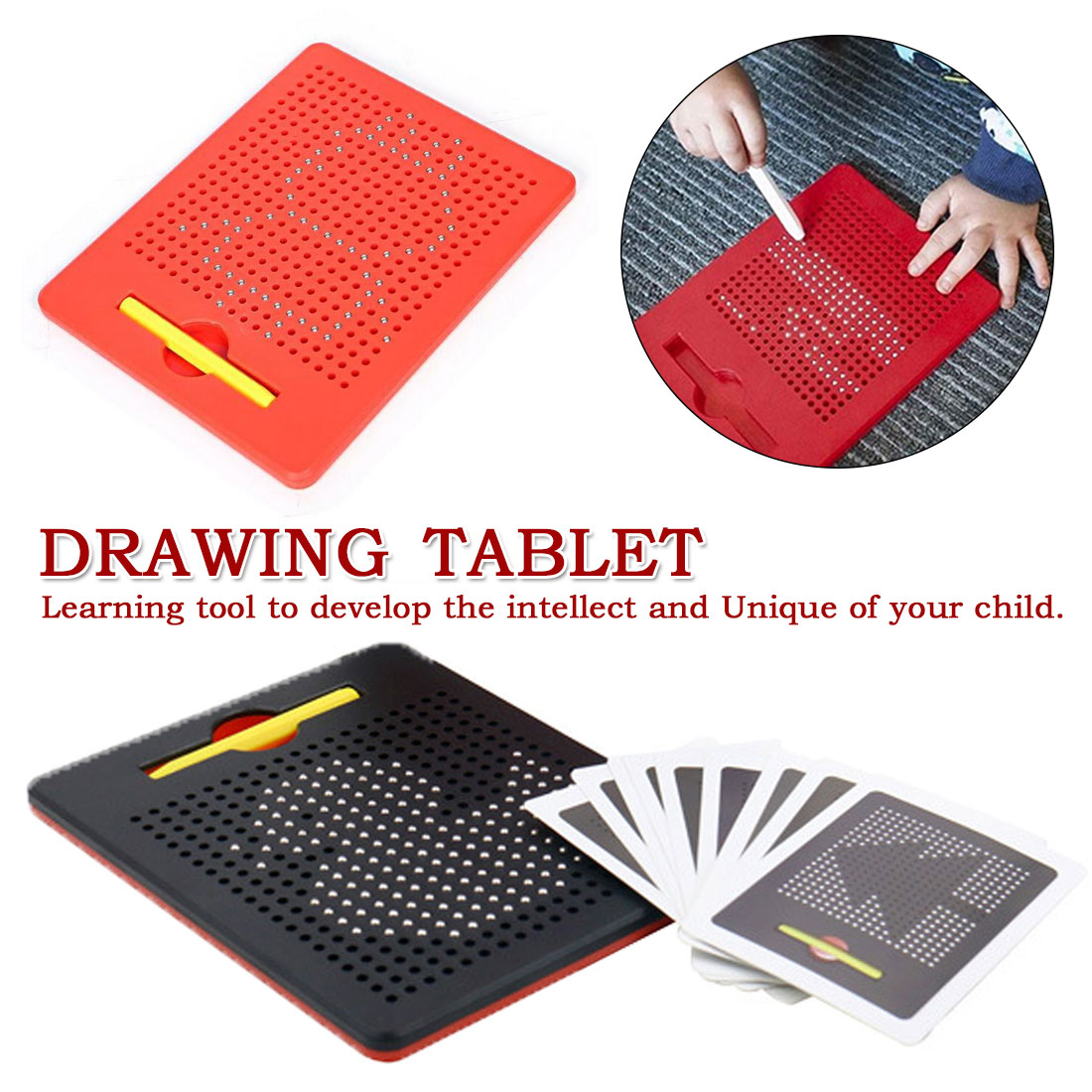 Magnetic Tablet Magnet Drawing Board With Steel Bead Magnet Stylus Pen For Kids