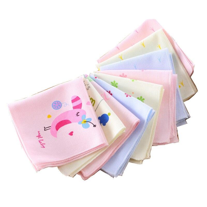 Cartoon Baby Gauze Handkerchiefs Square Pocket Hanky Printed Handkerchief Children Portable Towel 22*22CM AD0439