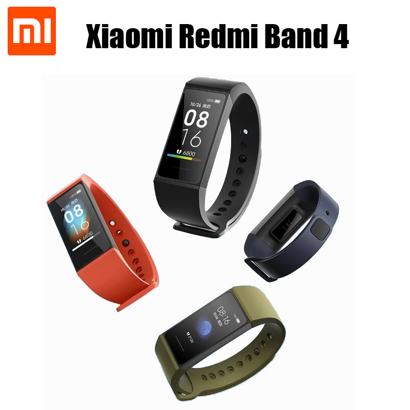 "2020 Xiaomi Redmi Band 4 Smart Wristband Color Fitness Bracelet 1.08"" Color Touch Screen Sleep Track Heart Rate Monitor"