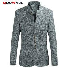 Мужские блейзеры,, Осенние повседневные Костюмы в китайском стиле, большие размеры, мужские весенние модные костюмы, высококачественное пальто, бренд MOOWNUC 6XL