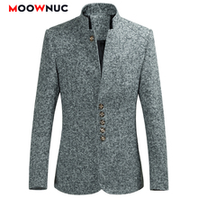 Blazers homens venda quente primavera 2020 estilo chinês outono ternos casuais tamanho grande masculino moda ternos de alta qualidade casaco moownuc 6xl